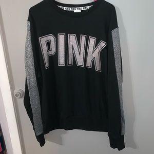 Victoria's Secret Pink glitter sweatshirt NWT, L